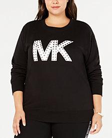 MICHAEL Michael Kors Plus Size Studded MKGO Logo Sweatshirt