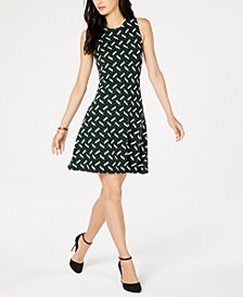 MICHAEL Michael Kors Printed Shift Dress, in Regular and Petite Sizes