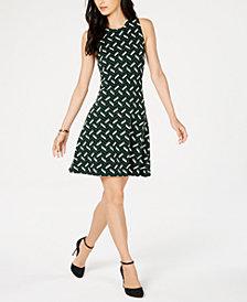 MICHAEL Michael Kors Printed Shift Dress, in Regular and Petite Sizes