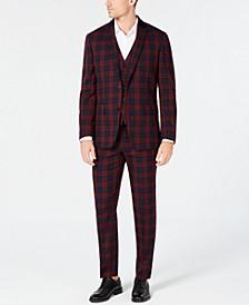 INC Mens Tartan Plaid Suit