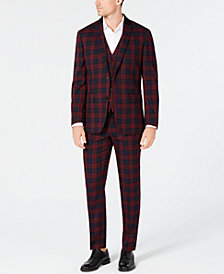 I.N.C. Mens Tartan Plaid Suit
