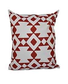 16 Inch Red Decorative Tribal Throw Pillow