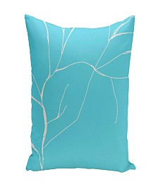 16 Inch Turquoise Decorative Floral Throw Pillow