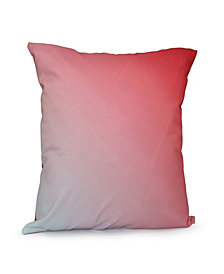 16 Inch Coral Decorative Ombre Throw Pillow