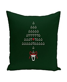 16 Inch Green and Red Decorative Christmas Throw Pillow