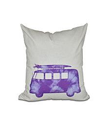 BeachDrive 16 Inch Purple Decorative Nautical Throw Pillow