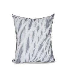 Shibori Stripe 16 Inch Gray Decorative Abstract Throw Pillow