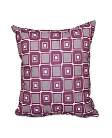 Square Pop 16 Inch Purple and Light Purple Decorative Coastal Throw Pillow