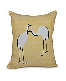 Stilts 16 Inch Yellow Decorative Geometric Throw Pillow
