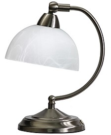 Elegant Designs Mini Modern Bankers Desk Lamp with Touch Dimmer Control Base Brushed Nickel