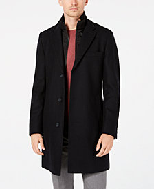 Hugo Boss Men's Milogan Slim-Fit Overcoat with Removable Bib
