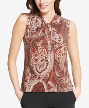 Tommy Hilfiger C PRINTED KNOT-NECK SHELL