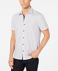 Ryan Seacrest Distinction™ Men's Diamond Grid Shirt, Created for Macy's