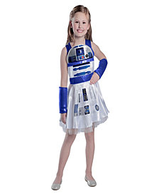 Girls Classic Star Wars R2D2 Dress Girls Halloween Costume