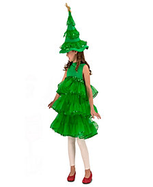 Glitter Christmas Tree Kids Costume