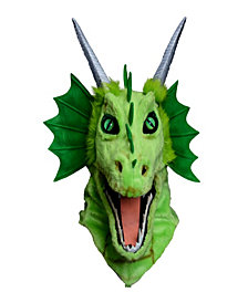 Moving Jaw Green Dragon Mask Kids Accessory