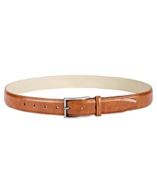 Men's Feather-Edge Textured Dress Belt, Created for Macy's