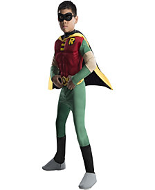 Boys Titans DC Comics Robin Muscle Chest Deluxe Boys Costume
