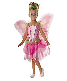 Pink Butterfly Fairy Girls Costume