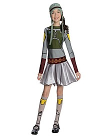 Star Wars Boba Fett- Little and Big Girls Costume