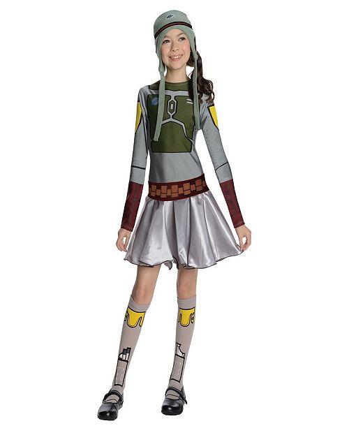 BuySeasons Star Wars Boba Fett- Little and Big Girls Costume
