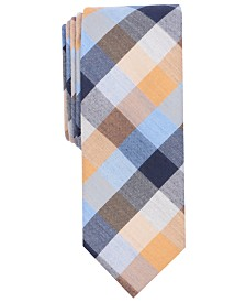 Bar III Men's Carvec Check Skinny Tie, Created for Macy's