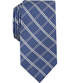 Nautica Men's Marion Grid Slim Silk Tie