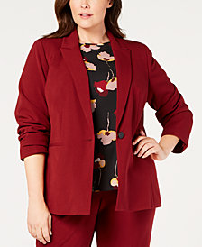 Nine West Plus Size One-Button Jacket