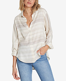 Billabong Juniors' For The Win Cotton Striped Button-Up Shirt