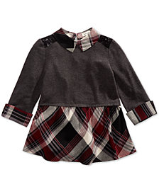 Monteau Big Girls Lace-Trim Layered-Look Top