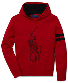 Polo Ralph Lauren Big Boys Logo Graphic Merino Wool Hoodie