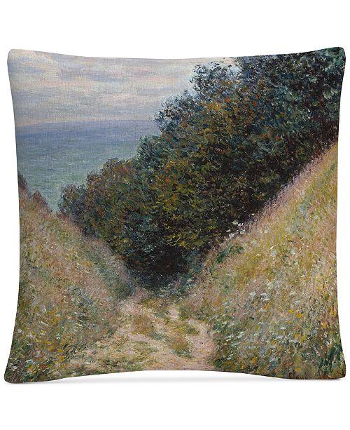 "Baldwin Monet Road At La Cavee Pourville 16"" x 16"" Decorative Throw Pillow"