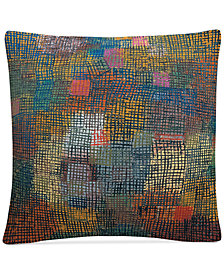 """Paul Klee Colors From A Distance 16"""" x 16"""" Decorative Throw Pillow"""