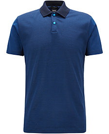BOSS Men's Slim-Fit Jacquard Cotton Polo