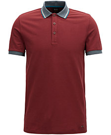 BOSS Men's Regular/Classic Fit Contrast Polo