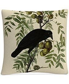 """John James Audubon American Crow 16"""" x 16"""" Decorative Throw Pillow"""
