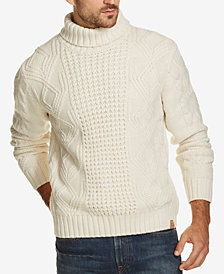 Weatherproof Vintage Men's Chunky-Knit Turtleneck Sweater