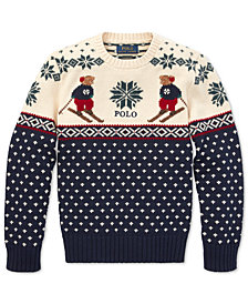 Polo Ralph Lauren Big Boys Ski Bear Sweater