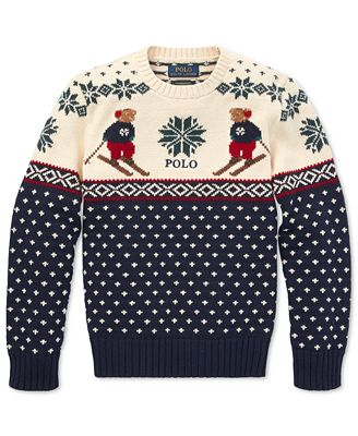 Polo Ralph Lauren Big Boys Ski Bear Sweater Sweaters Kids Macys
