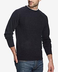 Weatherproof Vintage Men's Soft Touch Textured Raglan-Sleeve Sweater