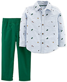Carter's Baby Boys 2-Pc. Stripe Outfit Set
