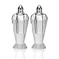 Badash Crystal Preston Silver Salt & Pepper Shaker Pair