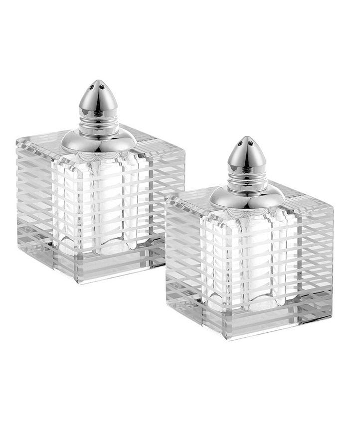 "Badash Crystal - 2 Silver Shakers H2.75"""