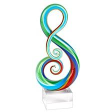 Rainbow Note Sculpture Art Glass Sculpture