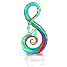 Badash Crystal Rainbow Note Sculpture Art Glass Sculpture