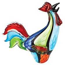 Super Rooster 1Art Glass Sculpture
