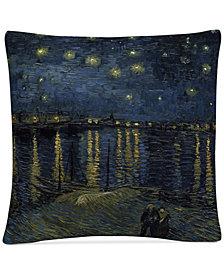 "Vincent Van Gogh The Starry Night II 16"" x 16"" Decorative Throw Pillow"