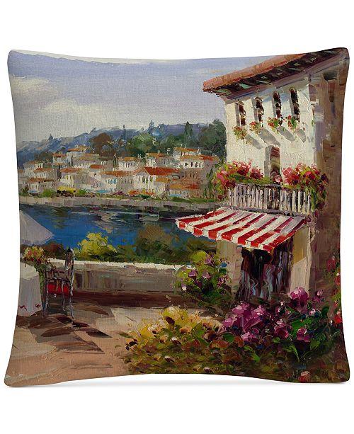 "Baldwin Rio Italian Afternoon 16"" x 16"" Decorative Throw Pillow"