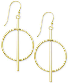 Essentials Bar & Circle Drop Earrings