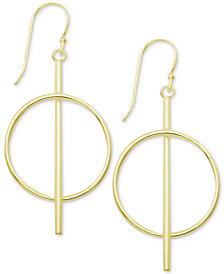 Essentials Bar & Circle Drop Earrings
